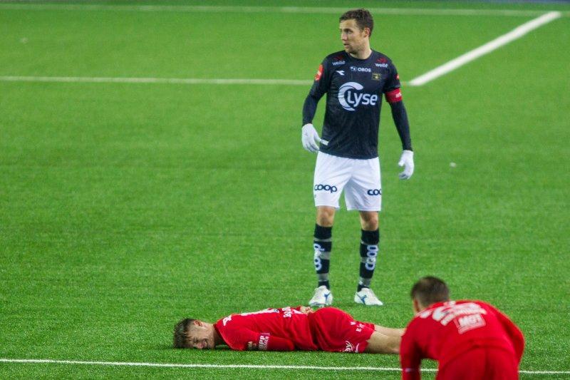 Forhåpentligvis blir Fredrik Torsteinbø og lagkameratene stående igjen som vinner av også dette Vestlandsderbyet. Foto: Carina Johansen / NTB