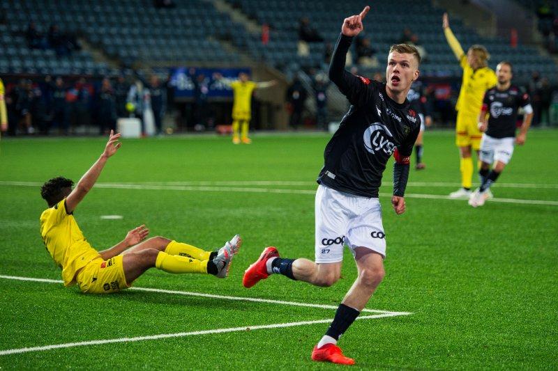 Samúel Fridjónsson scoret sitt andre mål i oppkjøringen.Foto: Carina Johansen / NTB