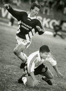 Sander Solberg scoret to og var bra mot Bodø/Glimt. Foto: Fra Stavanger byarkiv