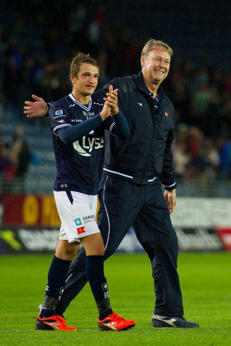 Det var Åge Hareide som i sin tid ga Veton Berisha, Yann-Erik de Lanlay og Arild Østbø sine debuter for Vikings A-lag. Foto: Kent Skibstad / Scanpix