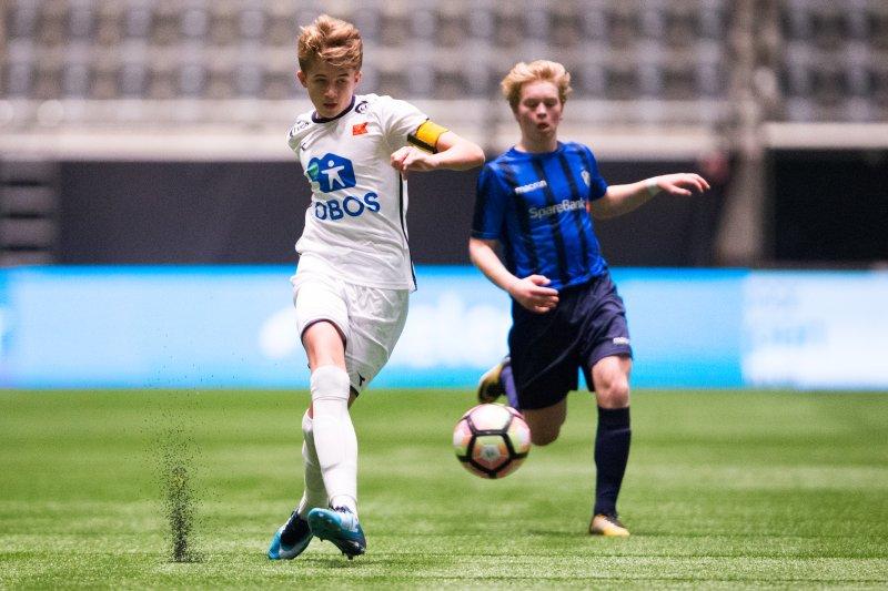 Henrik Heggheim var kaptein på G16-laget som spilte NM-finale i Telenor Arena i 2017. Foto: Fredrik Hagen / NTB scanpix