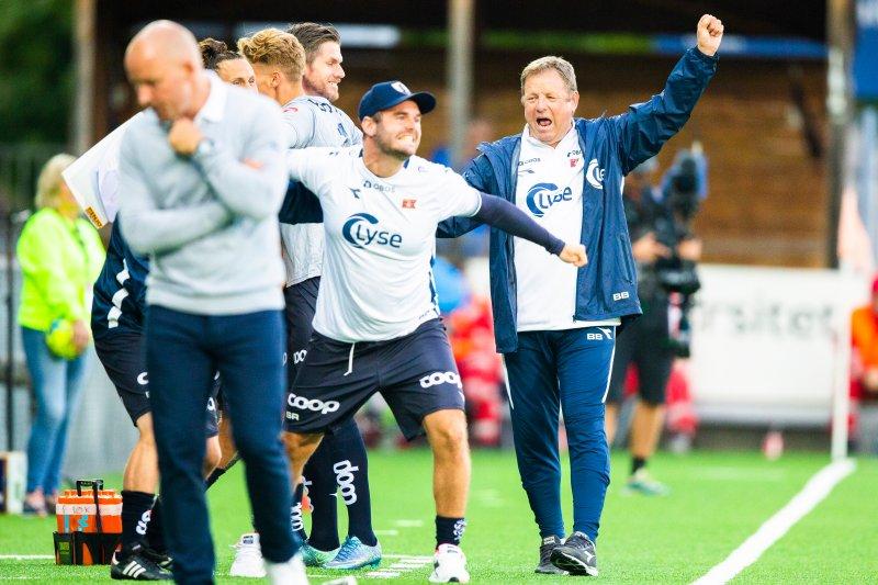 Tre poeng i Drammen smakte ekstra godt. Foto: Trond Reidar Teigen / NTB scanpix