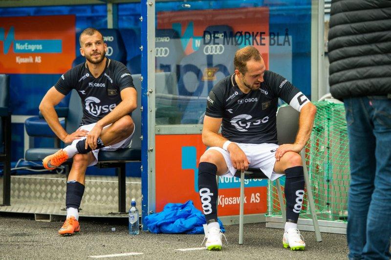 Zlatko Tirpic og Veton Berisha skulle så gjerne hatt alle tre poengen. Foto: Carina Johansen / NTB