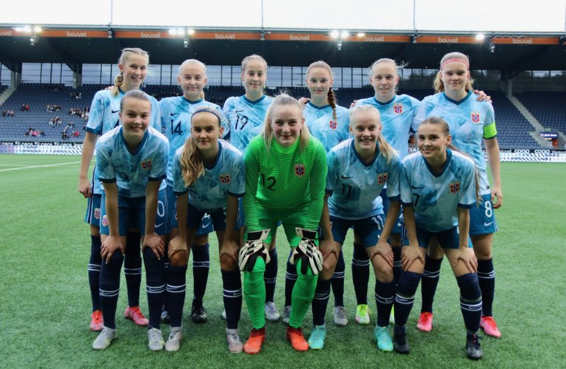 Det norske laget som slo Bulgaria 5-0 på SR-Bank Arena. Foto: Thomas Brekke Sæteren