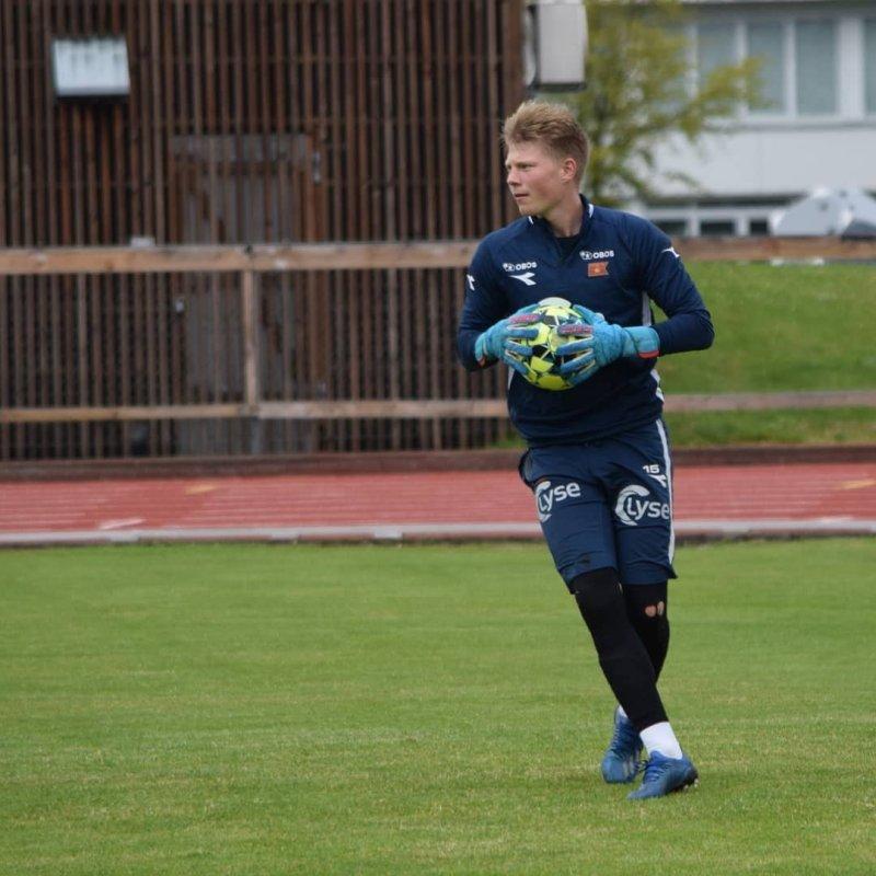 Trym Ur i aksjon under trening på Stavanger stadion i fjor.