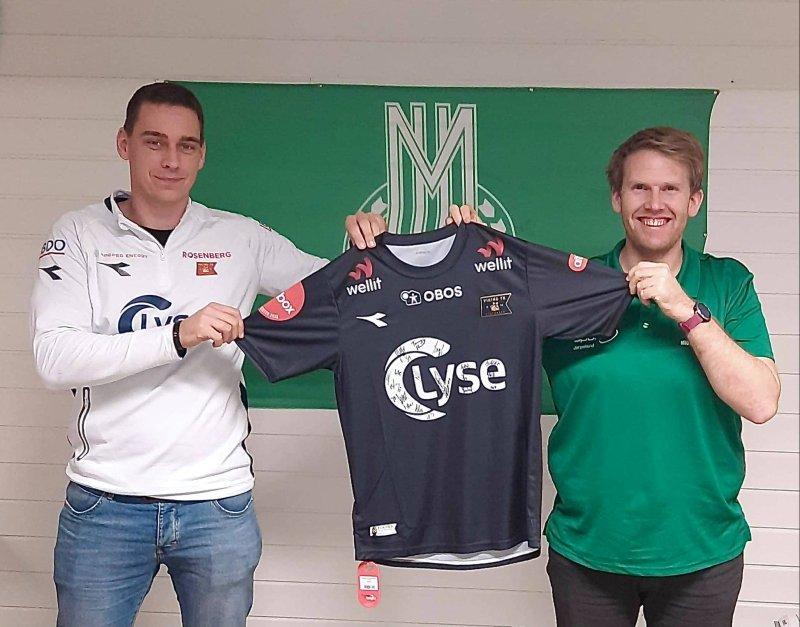 Leder for samarbeid og Fotballøftet, Eirik Terøy, og daglig leder i MIL, Oddbjørn Mihle Strand.